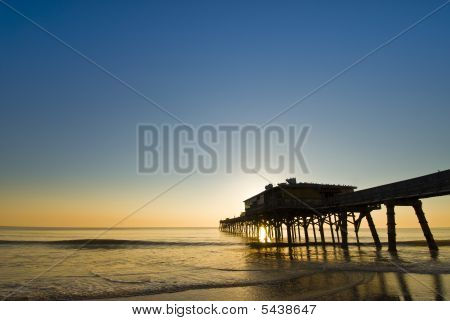 Colorful Fishing Pier Sunrise