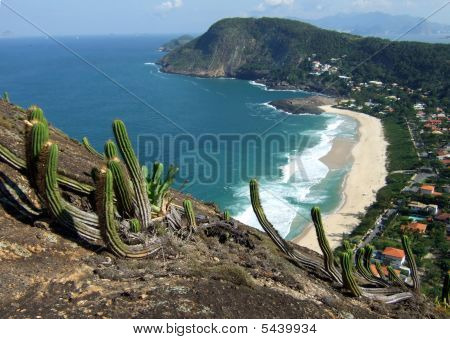 Itacoatiara Beach View Of Costao Mountain Top