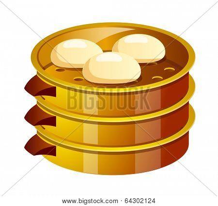 vector icon dumpling