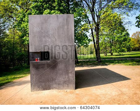 Memorial To Homosexuals Persecuted Under Nazism In Berlin, Germany.