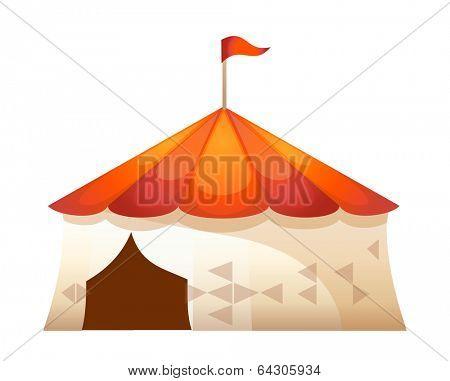 vector icon tent of amusement park