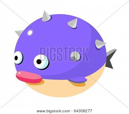 vector icon blow fish