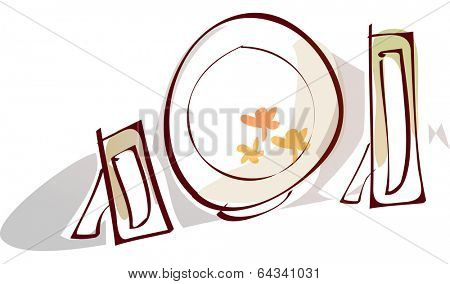 Vector illustration of dinnerware