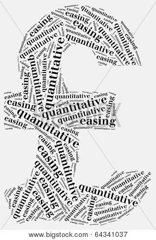 Word Cloud Concept Related To Quantitative Easing