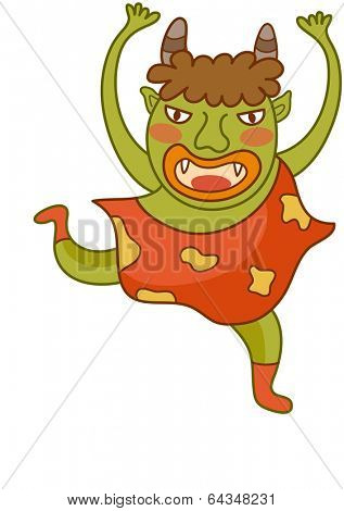Vector illustration of a funny monster