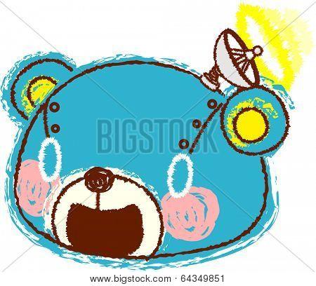 Vector illustration of an amusement park poster