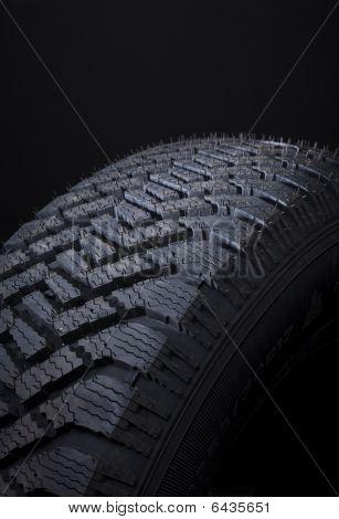 Close Up Of Winter Tire Tread