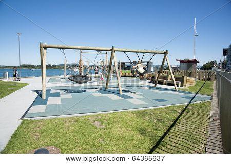Tauranga, New Zealand waterfront playground