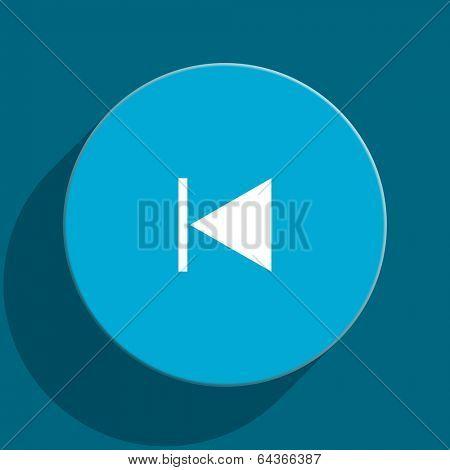prev blue flat web icon