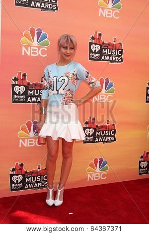 LOS ANGELES - MAY 1:  Chelsea Kane at the 1st iHeartRadio Music Awards at Shrine Auditorium on May 1, 2014 in Los Angeles, CA