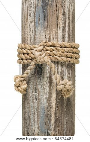 Wrapped Rope On Wood