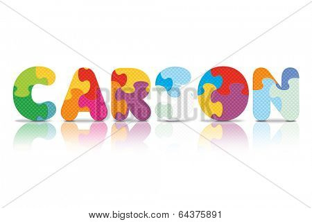 CARSON written with alphabet puzzle - vector illustration