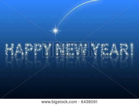 Happy New Year blue background