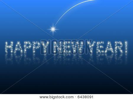 frohes neues Jahr blauen Hintergrund