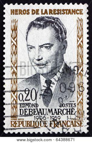 Postage Stamp France 1960 Edmund Debeaumarche, Hero