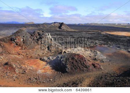 The Lava Field Of Leirhnjukur