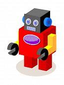 vector icon robot poster