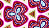 An abstract pattern made out of colours. poster