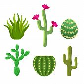 Cactus set for your game graphics design. poster