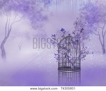 Cage With Roses