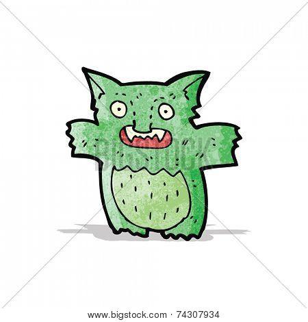 cartoon little green gremlin