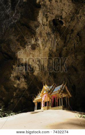 This is the Royal Pavilion in Phraya Nakhon cave Khao Sam Roi Yod National Park Prachuap Khiri Khan Province Thailand. It was built during the period of King Rama 5 of Rattanakosin. poster