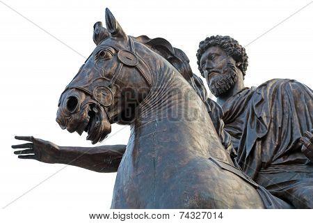 Equestrian Status Of Marcus Aurelius Rome, Italy