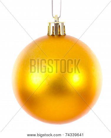 Golden Christmas Ball Ornament Brightened