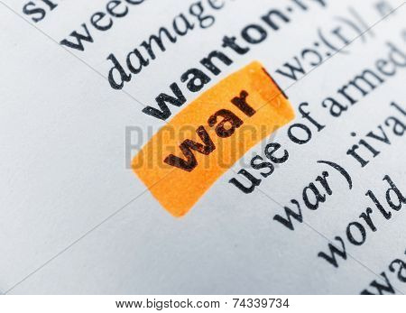 Word highlighted with orange marker