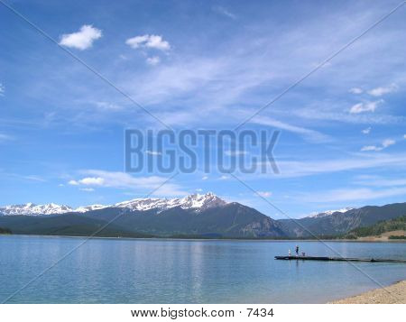 Lake Dillon With A Dock