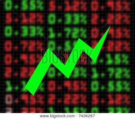 Stock Market Exchange Going Up