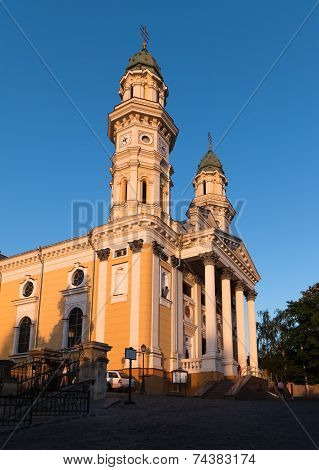 Greek Catholic Cathedral In Uzhhorod, Transcarpathia, Ukraine