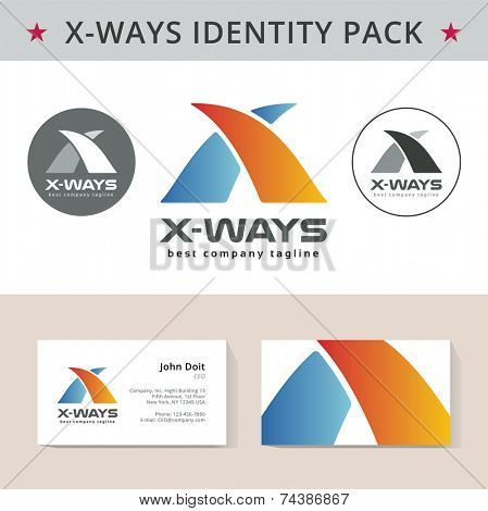 Abstract identity vector template. Key ideas is business, design, branding, id, template, blank, identity, corporate, company, business, letter X