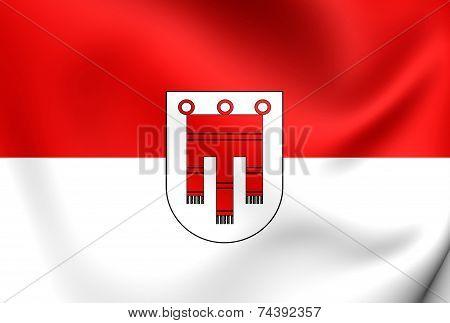 Flag Of Vorarlberg, Austria.