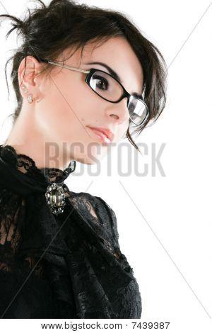 Elegant Serious Businesswoman