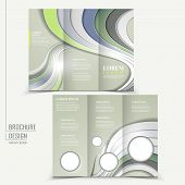 modern technological design for tri-fold brochure template poster
