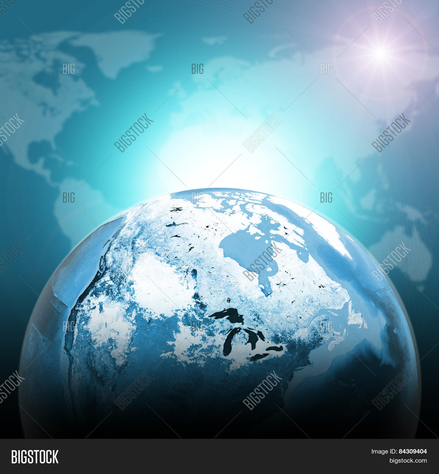 Imagen y foto green half earth prueba gratis bigstock green half earth globe with continents transparent world map on dark background gumiabroncs Choice Image