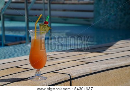 Orange Coctail At Pool