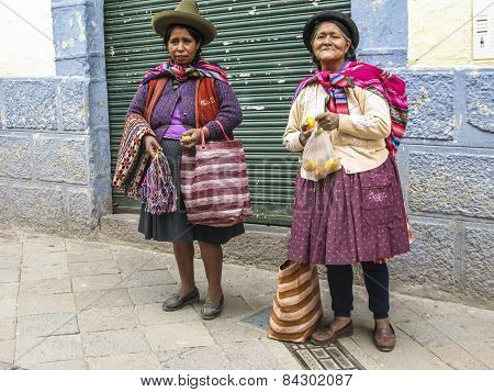 Poor People Beg For An Alm And Sell Handicraft And Fruits To Tourists