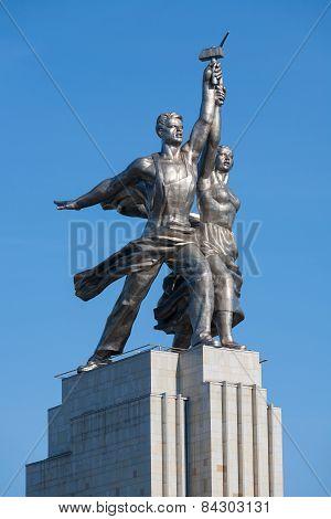 Rabochiy And Kolkhoznitsa Sculpture