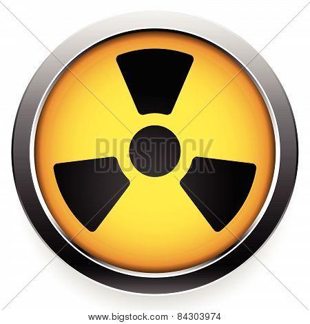 Radioactive Symbol. Radiation Icon.