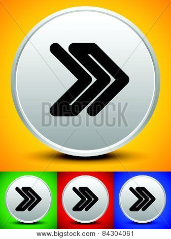 Double Right Arrow Icon On Backgrounds