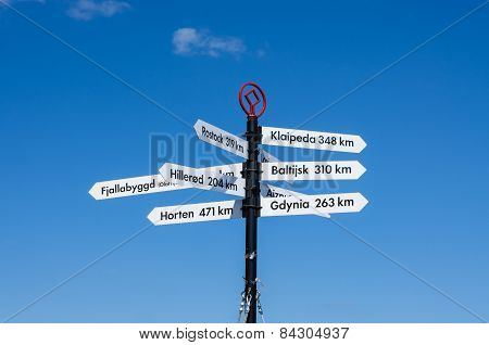Distance signs