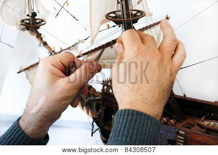 Making Wooden Boat