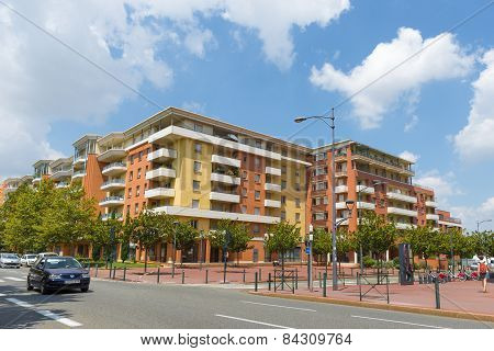 Typical Apartment Housing Block In Toulouse