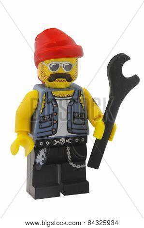 Motorcycle Mechanic Lego Minifigure