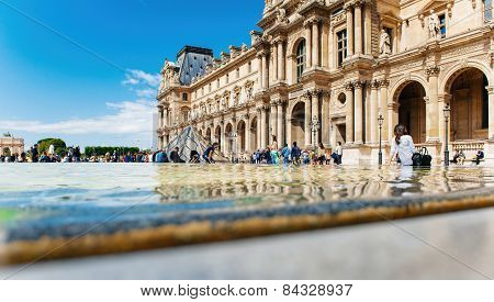 Tourist Visiting Louvre, Paris Sightseeing
