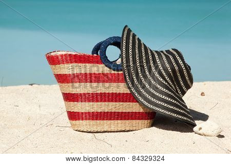 Beach Bag With Hat