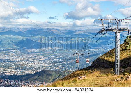 Gondola Rising From Quito