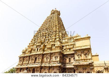 The magnificent Chief deity gopuram or tower of Brahadeewarar temple, Thanjavur